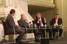 Podiumsdiskussion v.l. D. Gerlach, Prof. Dr. Scholl-Latour, U. Kienzle, F. Ayadi