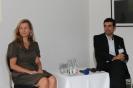 Alexandra Thein und Samir Nasr bei der Podiumsdiskussion
