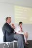 Ulrich Kienzle und Waslat Hasrat-Nazimi bei der Podiumsdiskussion