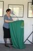 Joana Latorre trägt den Bericht des Schatzmeisters vor