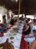 In einer lockeren Atmosphäre saßen die Gäste auf dem Boden des Beduinenzelts
